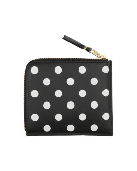 Polka dot zip-around coin pouch
