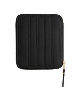 Patent leather zip-around wallet