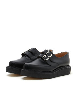 Dual strap platform loafers