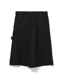 Side buckle wide-leg shorts