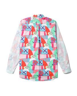 X KAWS all-over print shirt