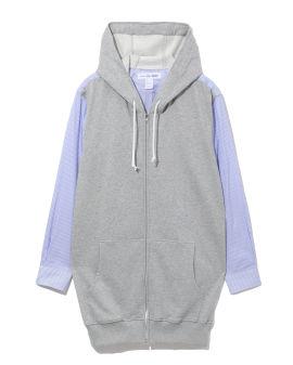 Layered hoodie shirt