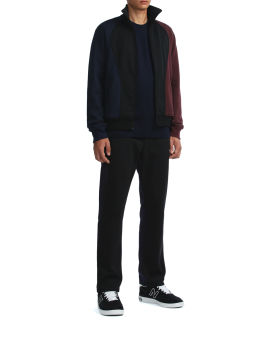 Colour blocked zip-up sweatshirt