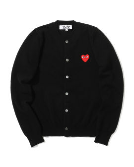 Heart logo embroidered cardigan