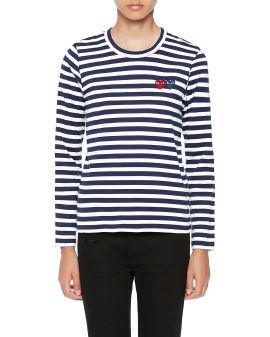 Pinstriped longsleeves T-shirt