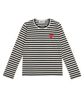 Heart logo stripe tee