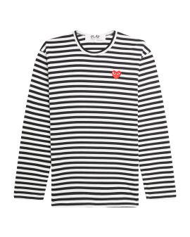 Heart logo striped tee