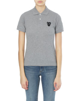 Double heart polo shirt