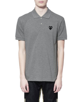 Heart logo polo shirt