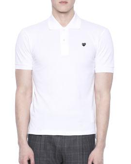 Small heart logo polo shirt
