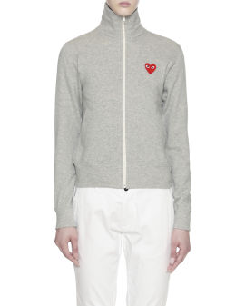 Heart logo zip sweatshirt