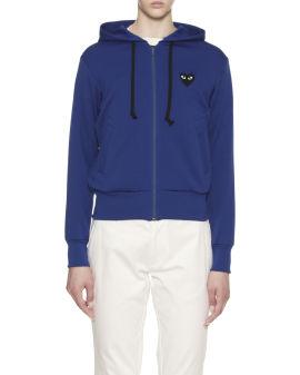 Heart logo zip hoodie