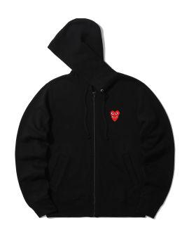Double heart zip hoodie