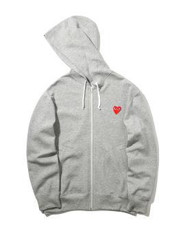 Heart logo zip-up hoodie