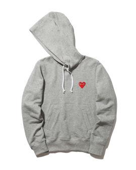 Heart logo cotton hoodie