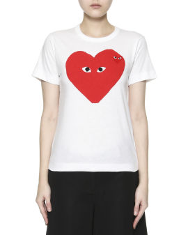 Heart logo printed T-shirt