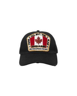 Canada flag patch cap