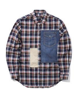 Check mix shirt
