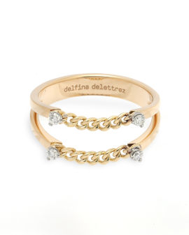 Unchain my art dots diamond ring