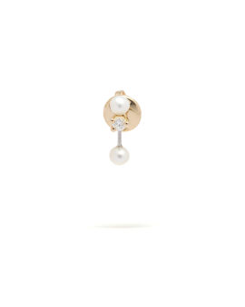 Two in one pearl earrings