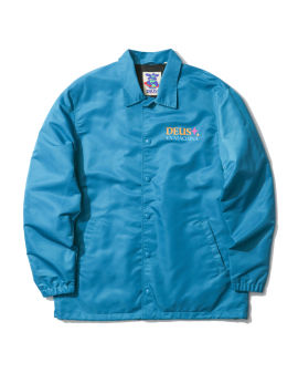 Logo print shirt jacket