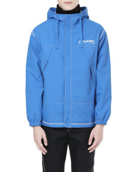 Hooded logo light jacket