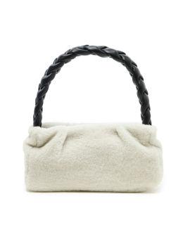 Genova shearling top handle bag