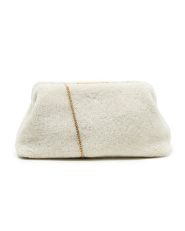 Florence shearling clutch