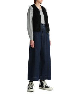 Zip-up vest coat