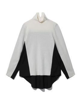 Spliced knit top