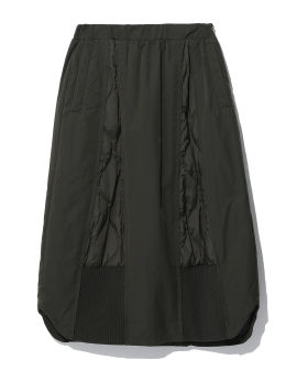 Quilted panel skirt