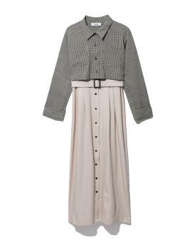 Collar panelled dress
