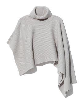 Draped knit turtleneck top