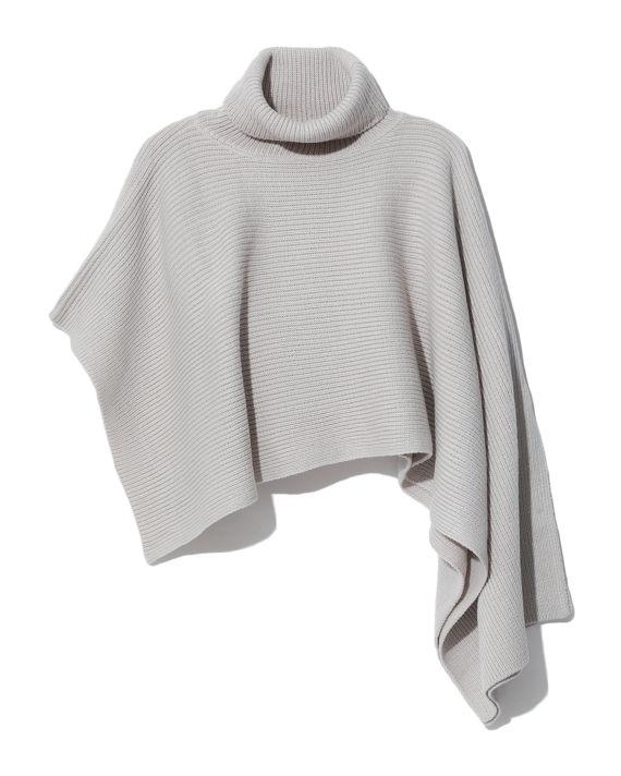 Draped knit turtleneck top image number 0
