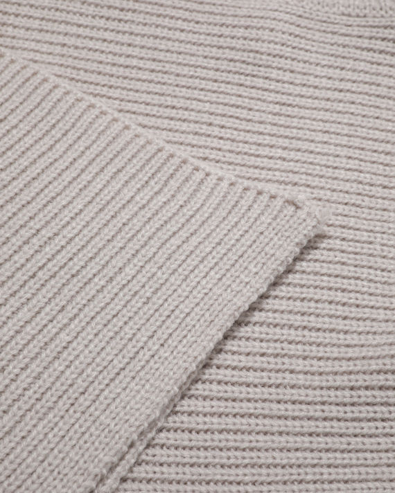 Draped knit turtleneck top image number 6