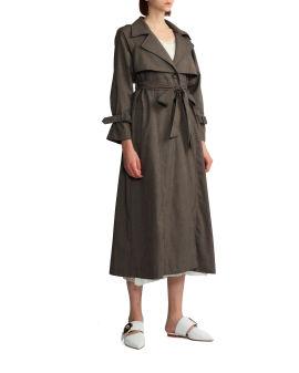 Bow-tie trench coat
