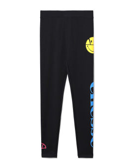 X Smiley printed leggings