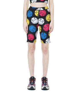 X Smiley printed shorts