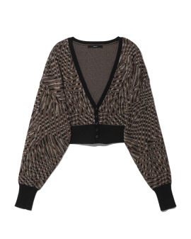 Patterned cropped cardigan