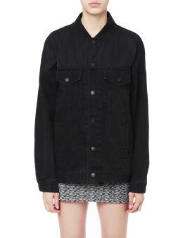 Panelled denim jacket