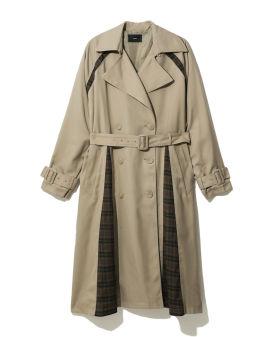 Belted slit coat