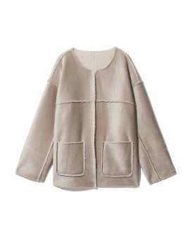 Collarless reversible jacket