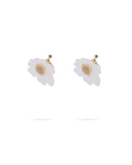 Floral clip earrings