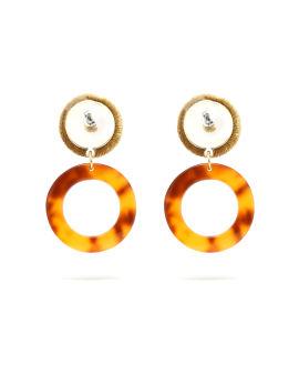 Tortoiseshell ring earrings