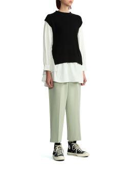 Front pleat pants