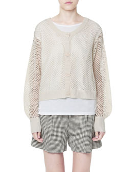 Two-piece knit top