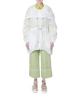 Gathered layered jacket