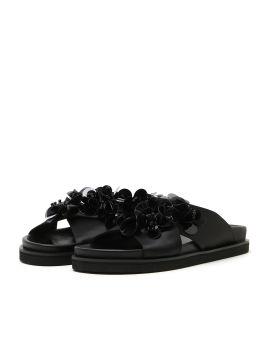 Ruffle-embellished sandals