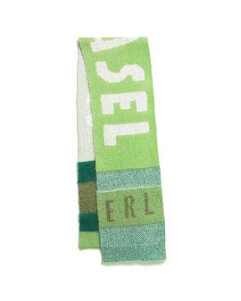 Intarsia knit scarf