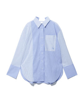 Striped panelled shirt